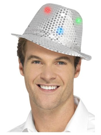 Light Up Sequin Trilby Hat