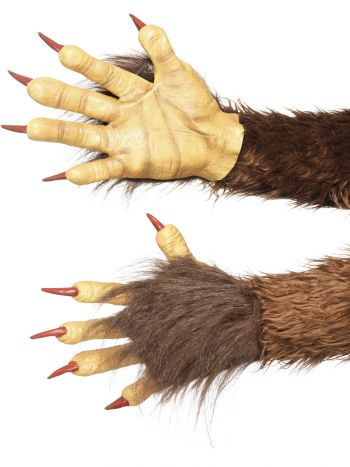 Beast / Krampus Demon Gloves, Brown