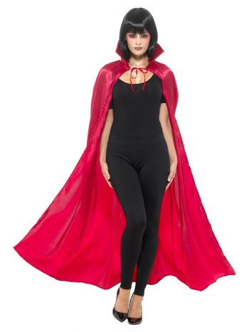 Satin Devil Cape, Red