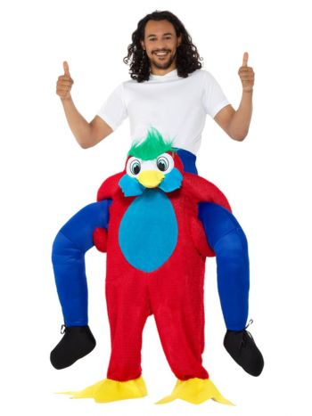 Piggyback Parrot Costume, Multi-Coloured