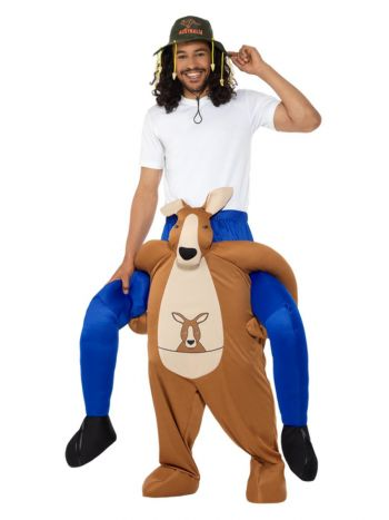 Piggyback Kangaroo Costume, Brown