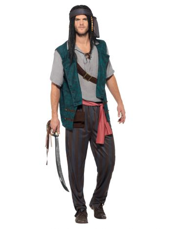 Pirate Deckhand Costume, Green