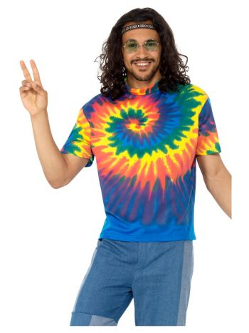 60s Tie Dye T-Shirt, Multi-Coloured