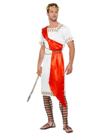 Roman Senator Costume, White & Red