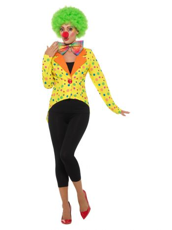 Colourful Clown Tailcoat Jacket, Ladies