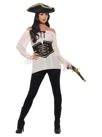 Deluxe Pirate Shirt, Ladies, Ivory