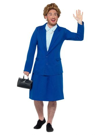 Iron Lady Prime Minister Costume, Blue