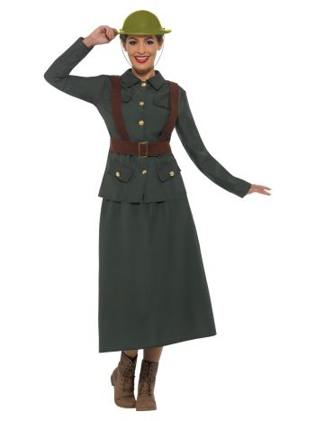 WW2 Army Warden Lady Costume