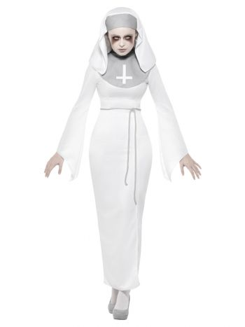 Haunted Asylum Nun Costume, White