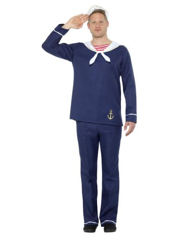 Sailor Man Costume, Blue & White