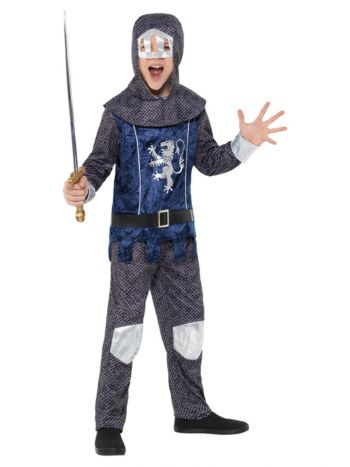 Medieval Knight Costume, Blue