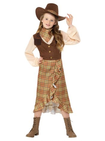 Cowgirl Kids Costume, Brown
