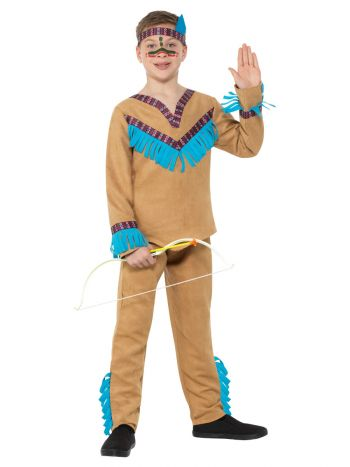 Native American Inspired Boy Costume, Brown