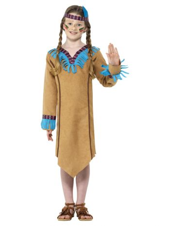Native American Inspired Girl Costume, Brown