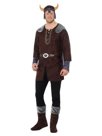 Viking Man Costume, Brown