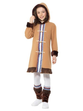 Arctic Girl Costume, Brown