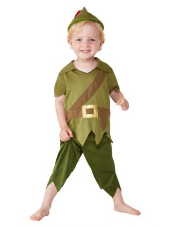 Toddler Robin Hood Costume, Green & Brown
