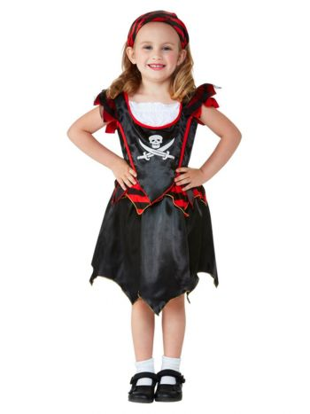 Toddler Pirate Skull & Crossbones Costume, Black