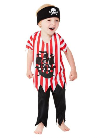 Toddler Jolly Pirate Costume, Multi-Coloured