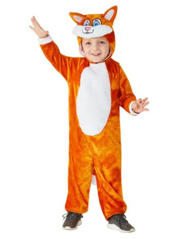 Toddler Cat Costume, Orange