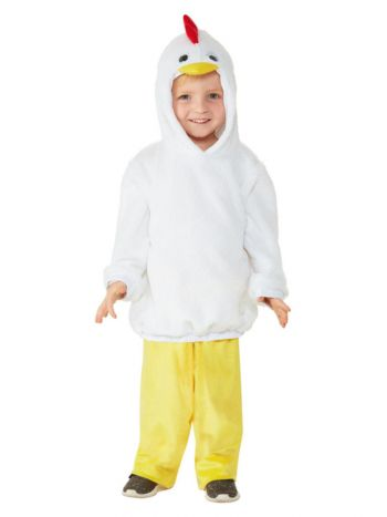 Toddler Chicken Costume, White