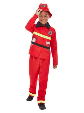 Toddler Fire Fighter Costume, Red