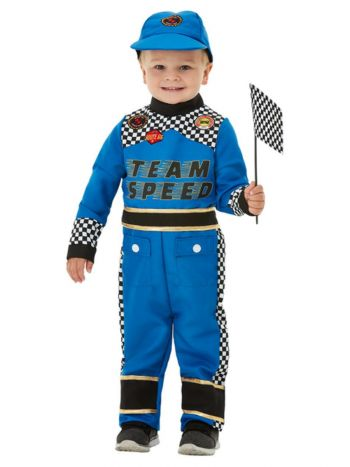 Toddler Racing Car Driver Costume, Blue