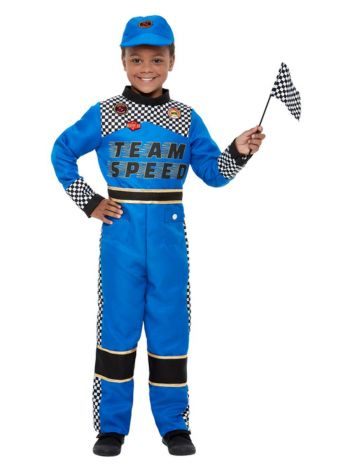 Racing Car Driver Costume, Blue