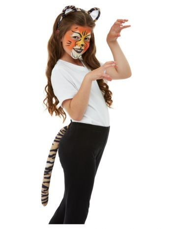 Smiffys Make Up FX, Kids Tiger Kit, Aqua