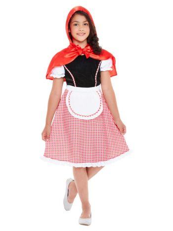 Deluxe Red Riding Hood Costume, Red & White