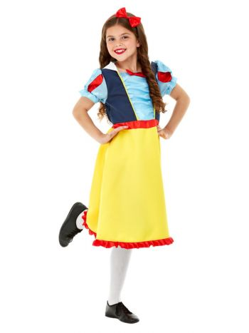 Deluxe Princess Snow Costume, Blue & Yellow