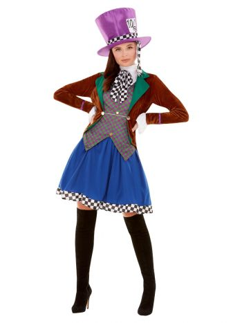 Miss Hatter Costume, Multi-Coloured
