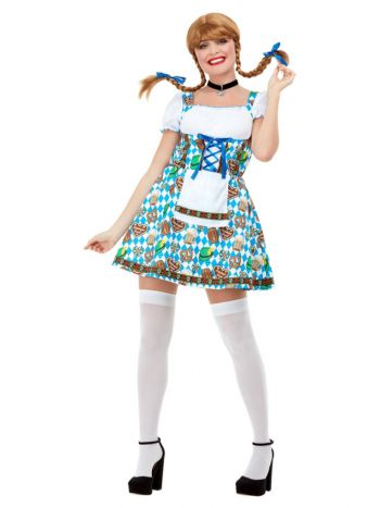 Oktoberfest Beer Maiden Costume, Blue