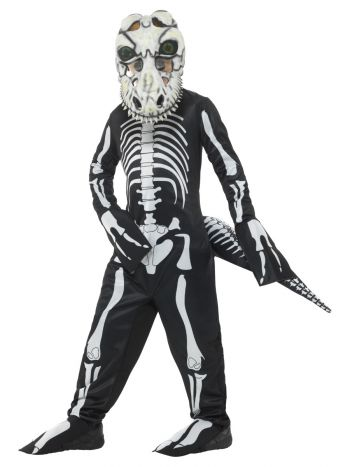 Deluxe T-Rex Skeleton Costume, with Bodysuit, Blac