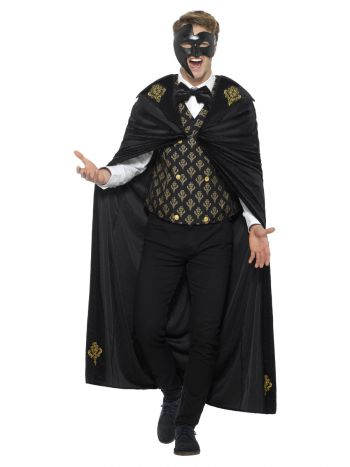 Deluxe Phantom Costume, Black & Gold