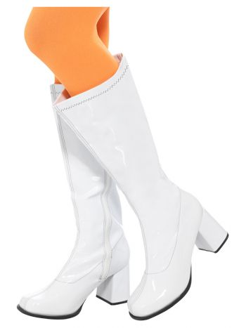 60s Ladies GoGo Boots, UK Size 4/ US 7, White