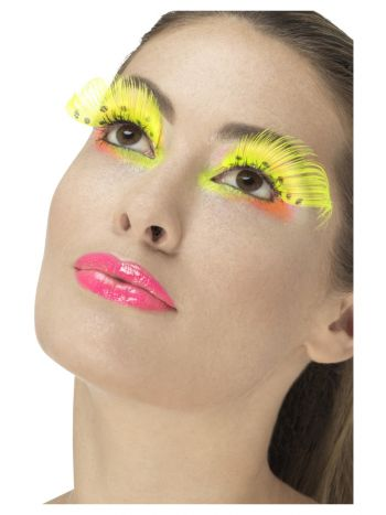 80s Polka Dot Eyelashes, Neon Yellow