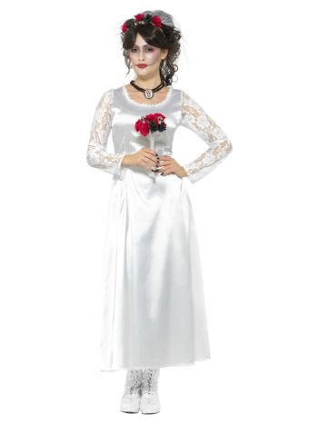 Day of the Dead Bride Costume, White