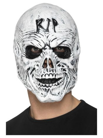 R.I.P Grim Reaper Mask, Foam Latex, White