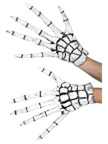 Grim Reaper/Skeleton Gloves, White