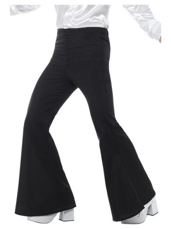 Flared Trousers, Mens, Black