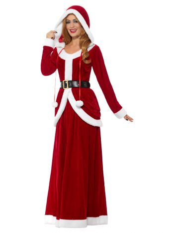 Deluxe Ms Claus Costume, Red