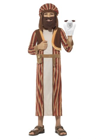 Nativity Shepherd Costume, with Robe, Brown