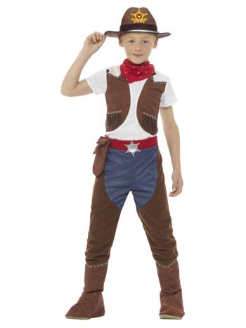 Deluxe Cowboy Costume, Brown