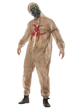 Zombie Biohazard Costume, Brown