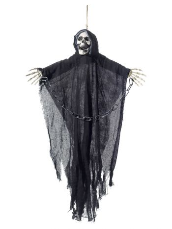 Hanging Reaper Skeleton Decoration, Black