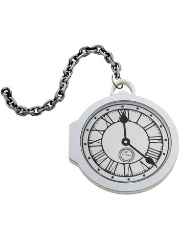 Oversized Pocket Watch, White