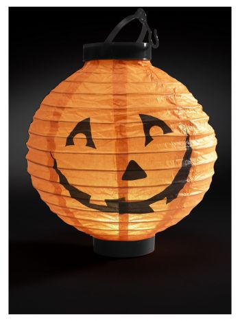 Light Up LED Paper Pumpkin Lantern