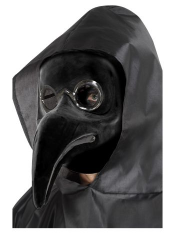 Authentic Plague Doctor Mask, Black, Black