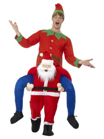 Piggyback Santa Costume, Red